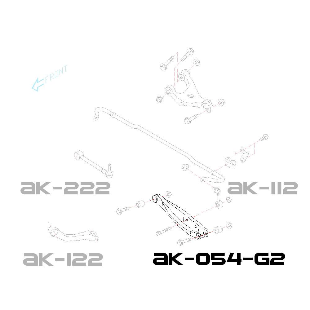 2009-17 SH//SJ GODSPEED GSP REAR ADJUSTABLE TOE ARMS KIT FOR SUBARU FORESTER