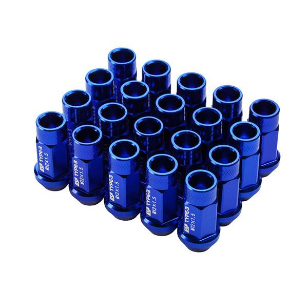 Godspeed 55mm Blue Aluminum Lug Nuts 20pcs M12x1.5 fits Honda Accord
