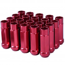 Godspeed New Type-X 60mm Open End Aluminum Lug Nuts 20 pcs. Set M12 X 1.25 Red