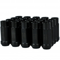 Godspeed New Type 3-X 55mm Steel Open End Lug Nuts 20 pcs. Set M12 X 1.5 Black