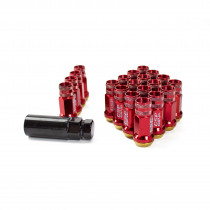 GR48 Steel Lug Nuts M12X1.25 With Spin Washer - Red