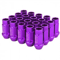Godspeed Type 3 50mm Lug Nuts 20 pcs. Set M12x1.25 (Purple)