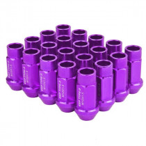 Godspeed Type 3 50mm Lug Nuts 20 pcs. Set M12x1.5 (Purple)