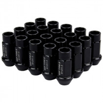 Godspeed Type 3 50mm Lug Nuts 20 pcs. Set M12x1.5 (Black)