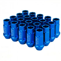 Godspeed Type 3 50mm Lug Nuts 20 pcs. Set M12x1.25 (Blue)
