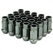 Godspeed Type 3 50mm Lug Nuts 20 pcs. Set M12x1.25 (Gun Metal)