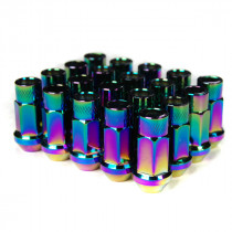 Godspeed Type 3 50mm Lug Nuts 20 pcs. Set M12x1.25 (Neo Chrome)