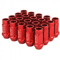 Godspeed Type 3 50mm Lug Nuts 20 pcs. Set M12x1.25 (Red)