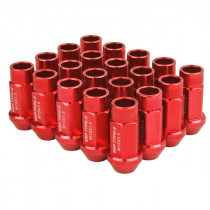 Godspeed Type 3 50mm Lug Nuts 20 pcs. Set M12x1.5 (Red)