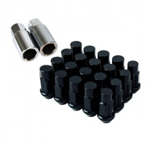 Godspeed Type 4 50mm Lug Nuts 20 pcs. Set M12x1.25 (Black)