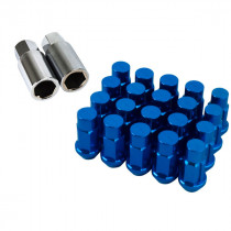 Godspeed Type 4 50mm Lug Nuts 20 pcs. Set M12x1.25 (Blue)