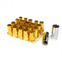 Godspeed Type 4 50mm Lug Nuts 20 pcs. Set M12x1.25 (Gold)