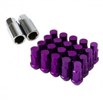 Godspeed Type 4 50mm Lug Nuts 20 pcs. Set M12x1.25 (Purple)