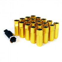 Godspeed Type 5 55mm Lug Nuts 20 pcs. Set M12 X 1.5 Gold
