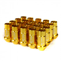 Godspeed Type 3 50mm Lug Nuts 20 pcs. Set M12x1.25 (Gold)