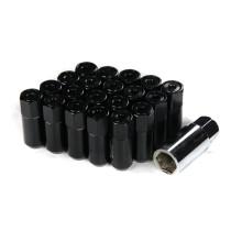 Godspeed Type 5 55mm Lug Nuts 20 pcs. Set M12 X 1.25 Black