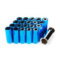Godspeed Type 5 55mm Lug Nuts 20 pcs. Set M12 X 1.5 Blue
