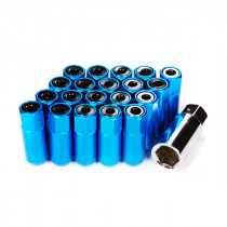 Godspeed Type 5 55mm Lug Nuts 20 pcs. Set M12 X 1.25 Blue