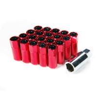 Godspeed Type 5 55mm Lug Nuts 20 pcs. Set M12 X 1.25 Red