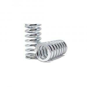 Custom Coilover Springs 12KG / 180MM / 62MM ID (set of 2) - Chrome Finish